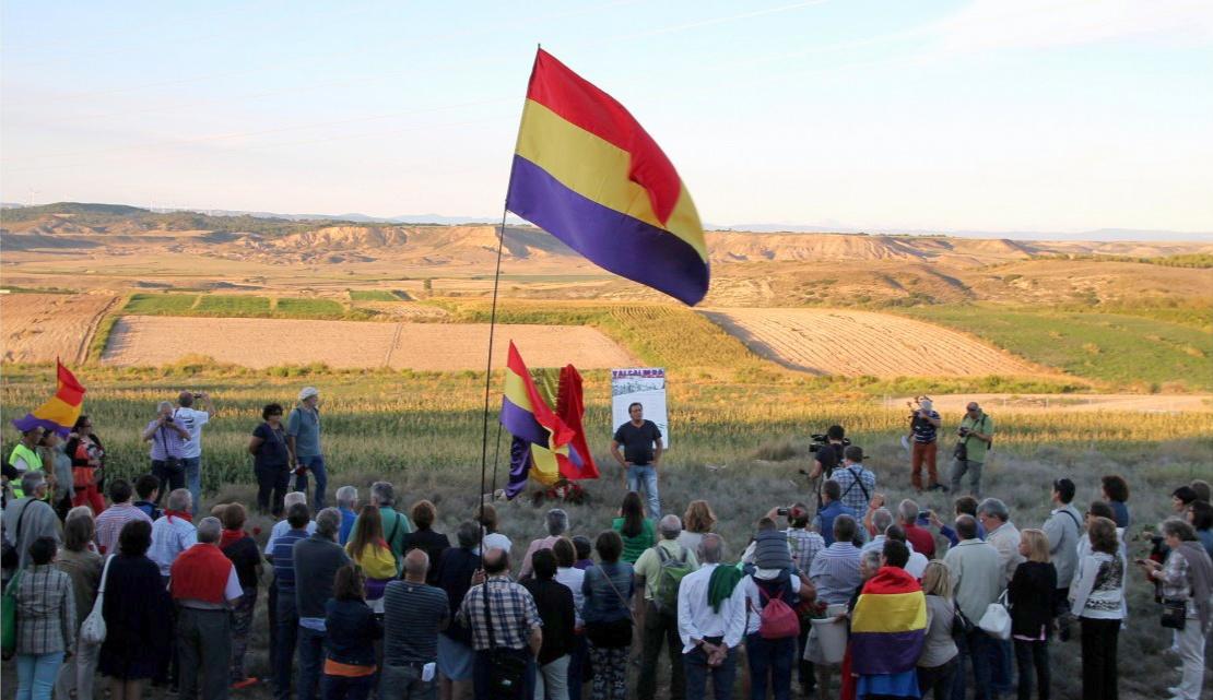 Acto en el Corral de Valcaldera en el 2014