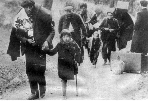 Imagen icónica de la retirada en 1939